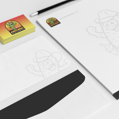 Arizona Salsa Company stationary, business card, and letter